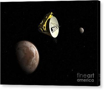 New Horizons Spacecraft Flies By Dwarf Canvas Print