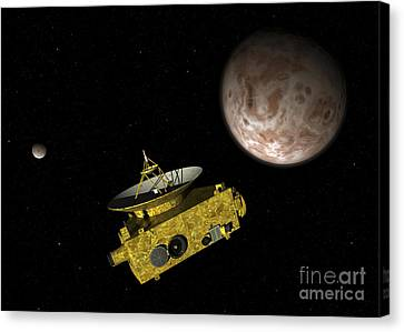 New Horizons Spacecraft Over Dwarf Canvas Print