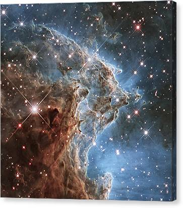 New Hubble Image Of Ngc 2174 Canvas Print by Adam Romanowicz