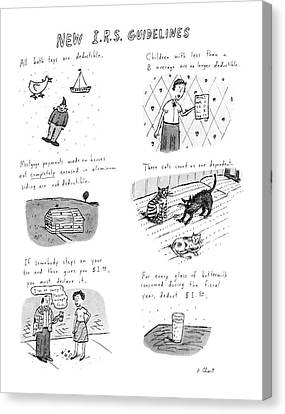 New I.r.s. Guidelines Canvas Print by Roz Chast