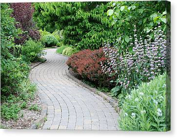 Canvas Print featuring the photograph Frelinghuysen Arboretum Path by Richard Bryce and Family