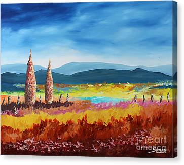 New Land Canvas Print by Andrew Sanan