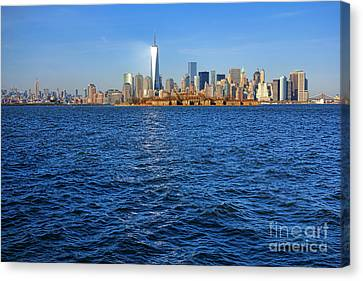New Light On The Water Canvas Print by Olivier Le Queinec