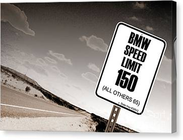 New Limits Sepia Canvas Print