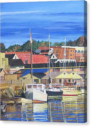 New London Marina Canvas Print by Stuart B Yaeger