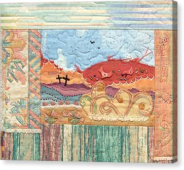 New Mexican Lanscape Canvas Print by MtnWoman Silver