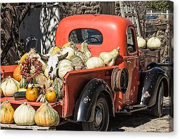 New Mexico Fall Harvest Truck Canvas Print