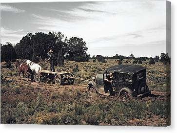 New Mexico Roads, 1940 Canvas Print by Granger