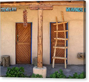 New Mexico Shop Fronts Canvas Print by Heidi Hermes