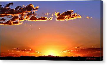 Canvas Print featuring the photograph New Mexico Sunset Glow by Barbara Chichester