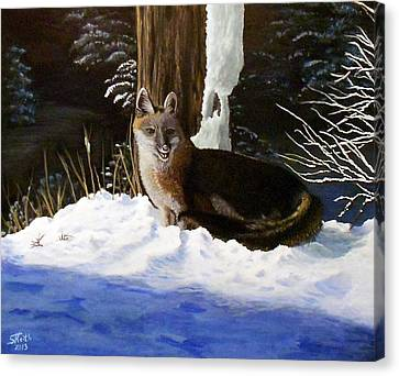 Canvas Print featuring the painting New Mexico Swift Fox by Sheri Keith