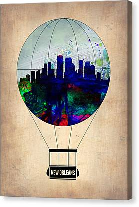 New Orleans Air Balloon Canvas Print by Naxart Studio