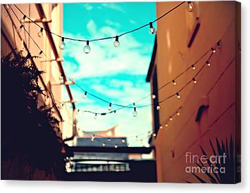 Canvas Print featuring the photograph New Orleans Alley by Sylvia Cook