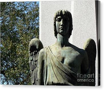 Canvas Print featuring the photograph New Orleans Angel 1 by Elizabeth Fontaine-Barr