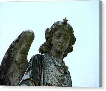 Canvas Print featuring the photograph New Orleans Angel 3 by Elizabeth Fontaine-Barr