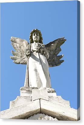 Canvas Print featuring the photograph New Orleans Angel 5 by Elizabeth Fontaine-Barr