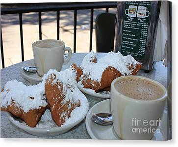 New Orleans Breakfast Canvas Print by Carol Groenen