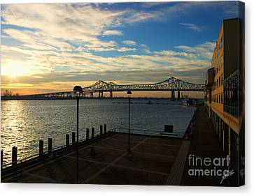 Canvas Print featuring the photograph New Orleans Bridge by Erika Weber