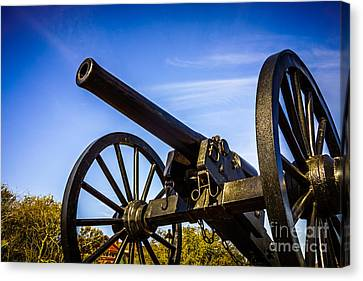 New Orleans Cannon At Washington Artillery Park Canvas Print by Paul Velgos