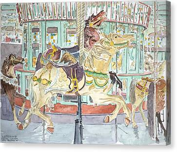 New Orleans Carousel Canvas Print by Anthony Butera