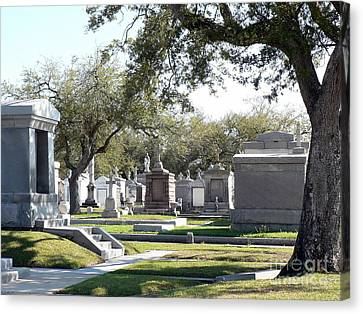 Canvas Print featuring the photograph New Orleans Cemetery 2 by Elizabeth Fontaine-Barr
