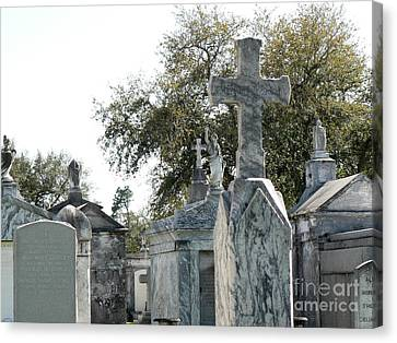 Canvas Print featuring the photograph New Orleans Cemetery 4 by Elizabeth Fontaine-Barr
