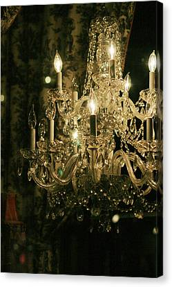 Canvas Print featuring the photograph New Orleans Chandelier by Heather Green