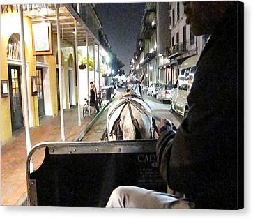 New Orleans - City At Night - 121212 Canvas Print by DC Photographer