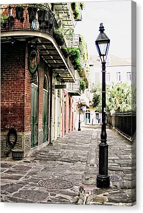 Canvas Print featuring the photograph New Orleans Cobblestone by Heather Green