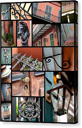 New Orleans Collage 2 Canvas Print by Carol Groenen