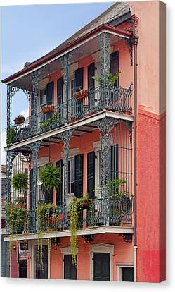 Victorian Canvas Print - New Orleans Colorful Homes by Christine Till
