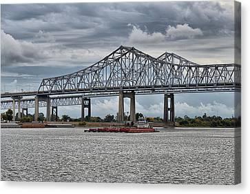 New Orleans Crescent City Connection Bridge Canvas Print by Christine Till
