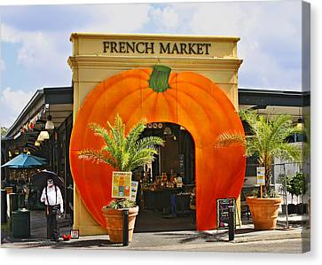 Jazz Canvas Print - New Orleans French Market by Christine Till