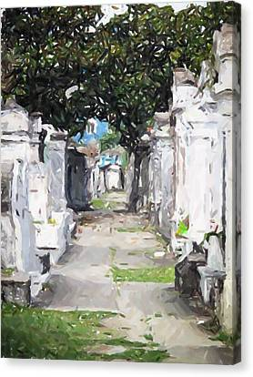 New Orleans French Quarter Cemetary Louisiana Artwork Canvas Print by Olde Time  Mercantile