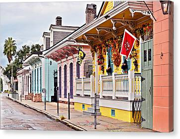 New Orleans Happy Houses Canvas Print by Christine Till