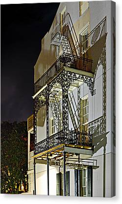Fire Escape Canvas Print - New Orleans Hot Summer Night by Christine Till