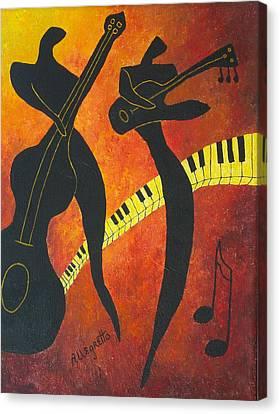 New Orleans Jazz Canvas Print by Pamela Allegretto