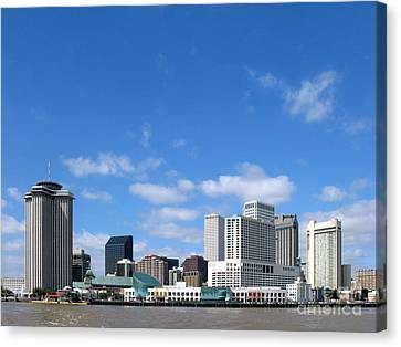 Mississippi River Canvas Print - New Orleans Louisiana by Olivier Le Queinec
