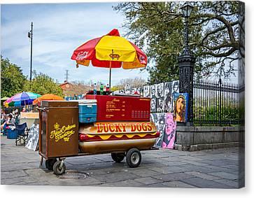 New Orleans - Lucky Dogs  Canvas Print by Steve Harrington