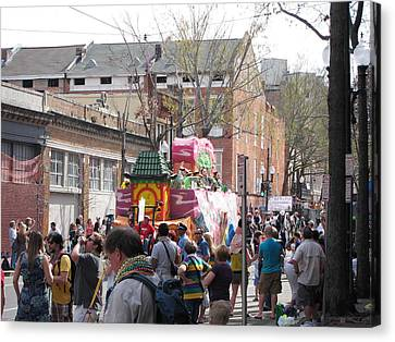 New Orleans - Mardi Gras Parades - 1212131 Canvas Print by DC Photographer