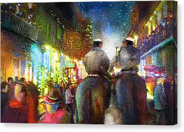 New Orleans Nights 01 Canvas Print by Miki De Goodaboom