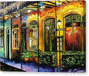 New Orleans Original Painting Canvas Print by Beata Sasik