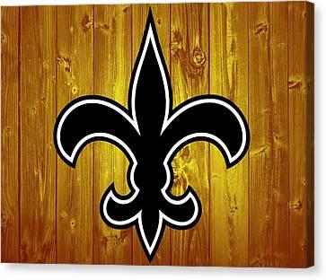 New Orleans Saints Barn Door Canvas Print by Dan Sproul
