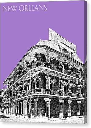 New Orleans Skyline French Quarter - Violet  Canvas Print by DB Artist