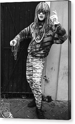 New Orleans Statuary Mime Canvas Print