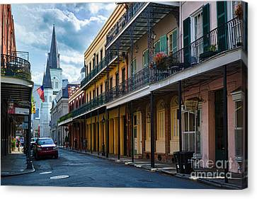 New Orleans Street Canvas Print by Inge Johnsson