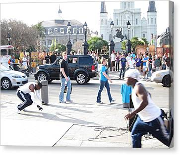 New Orleans - Street Performers - 121213 Canvas Print by DC Photographer