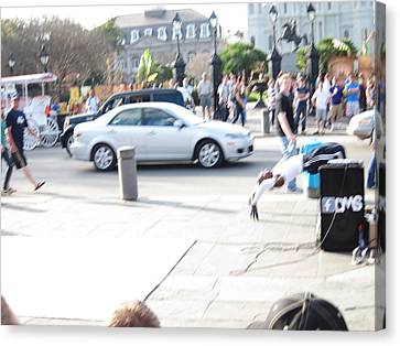 New Orleans - Street Performers - 121214 Canvas Print by DC Photographer