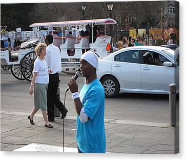 New Orleans - Street Performers - 12126 Canvas Print by DC Photographer