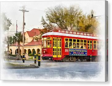 New Orleans Streetcar Paint Canvas Print by Steve Harrington